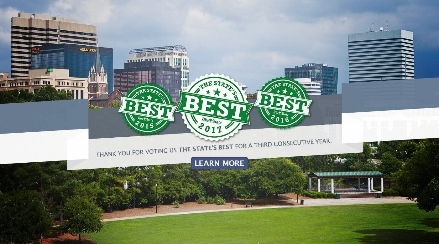 Thank you for voting us The State's Best for a third consecutive year.